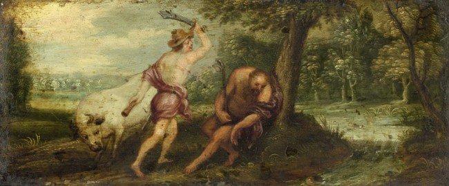 6009: Antwerpen, 17. Jahrhundert: Merkur erschlägt Argu