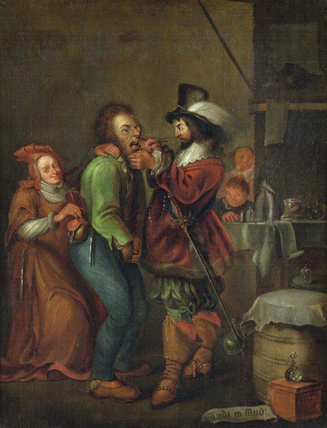 6017: Niederländisch, 18. Jh.: Der Zahnarzt