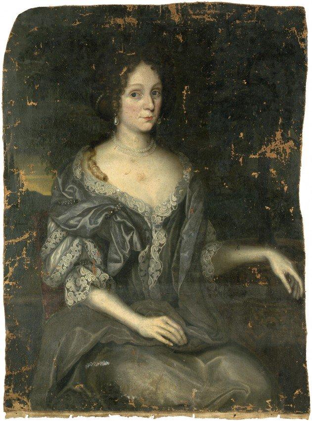 6020: Deutsch, um 1680: Bildnis Philippa Sigmunda von W