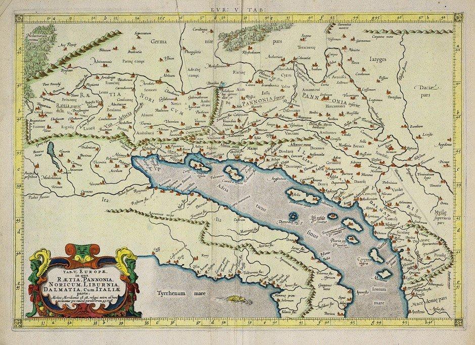 1: Adriatisches Meer: Tab(ula) Europae ...