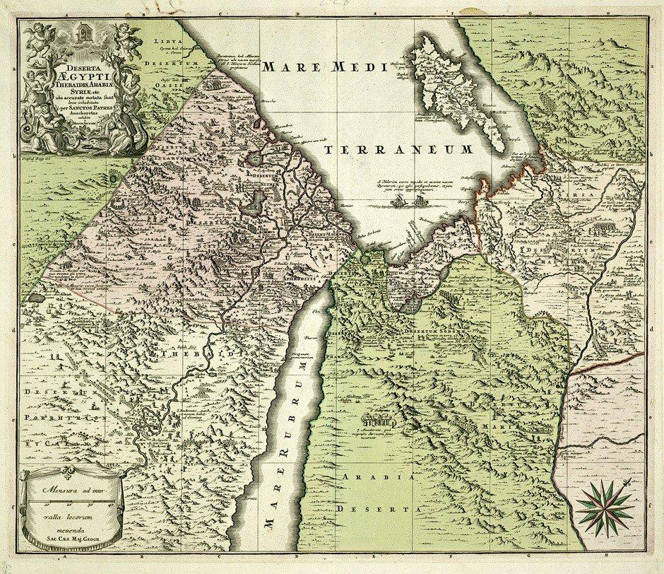 2: Ägypten (Seutter): Deserta Aegypti ...