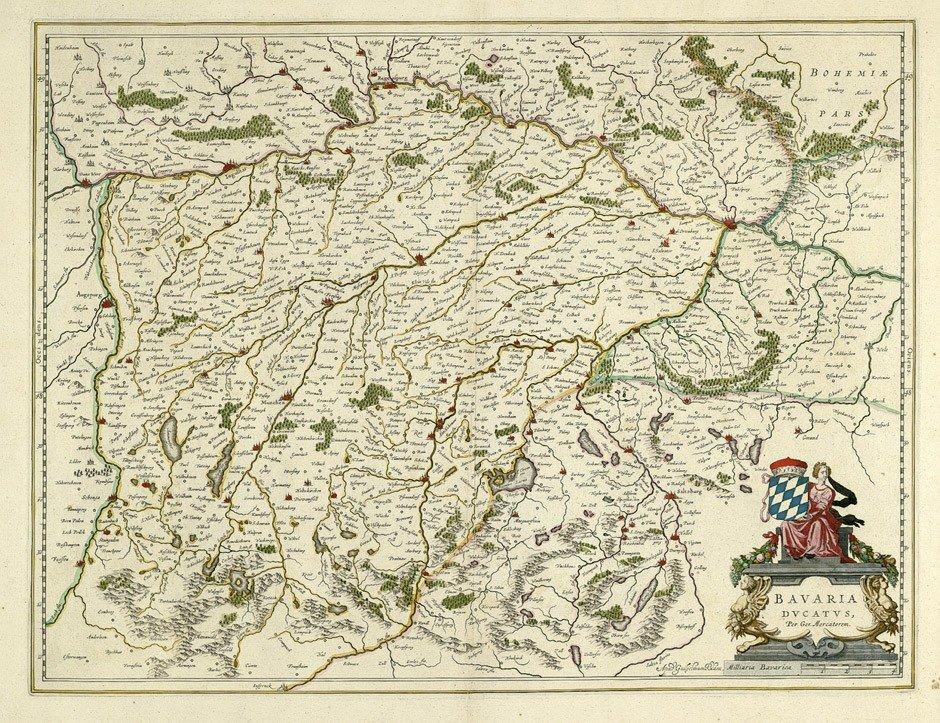5: Bayern (Blaeu): Bavaria ducatus