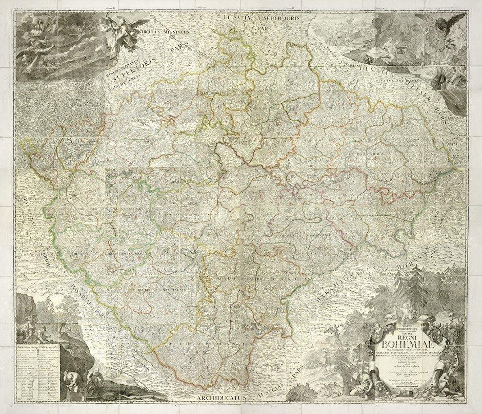 7: Böhmen (Joh. Chr. Müller): Mappa Chorographica ... r