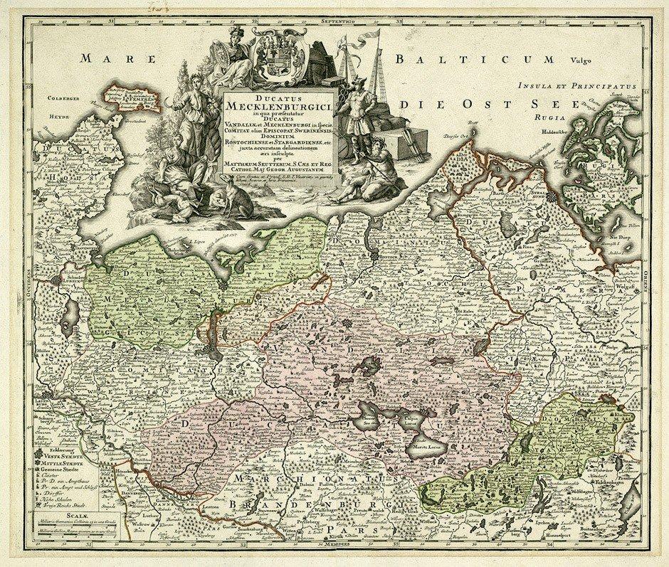 8: Brandenburg (Blaeu): Mecklenburg (Seutter)