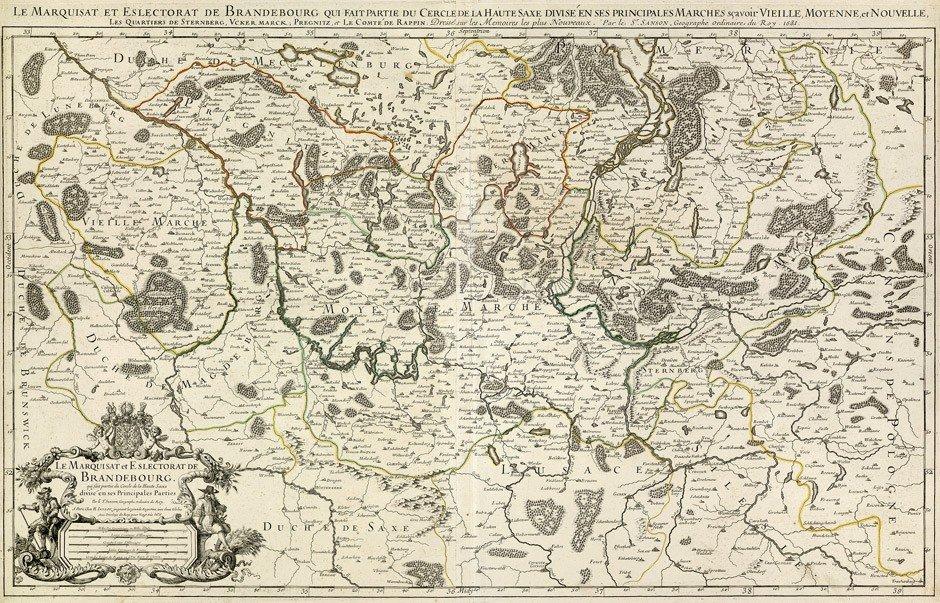9: Brandenburg (Jaillot/Seutter): Le Marquisat / Electo