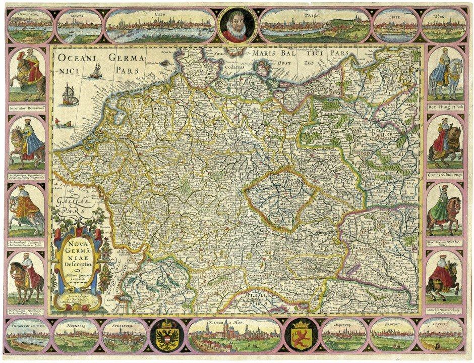 12: Deutschland (Janssonius): Nova Germaniae Descriptio
