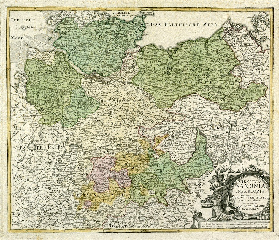 13: Deutschland, Brandenburg: Nieder- u. Obersachsen