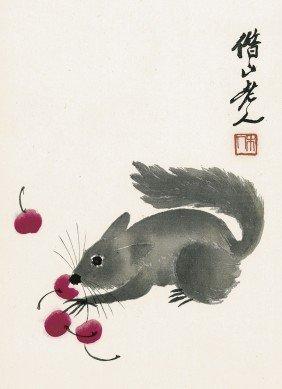 1090: Qi Baishi: Hua ji zuo zhe Qi Baishi. Leporello. 1