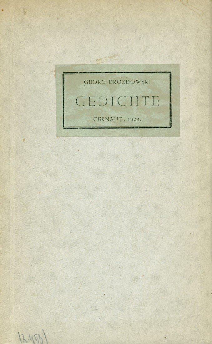2576: Drozdowski, Georg von: Gedichte
