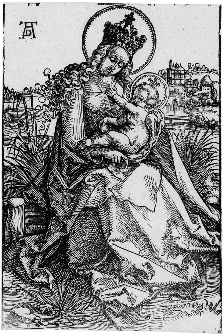 5005: Baldung, Hans: Maria mit dem Kind auf der Rasenba