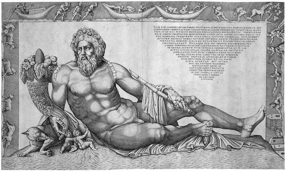 5007: Beatrizet, Nicolas: Der Flussgott Tiber
