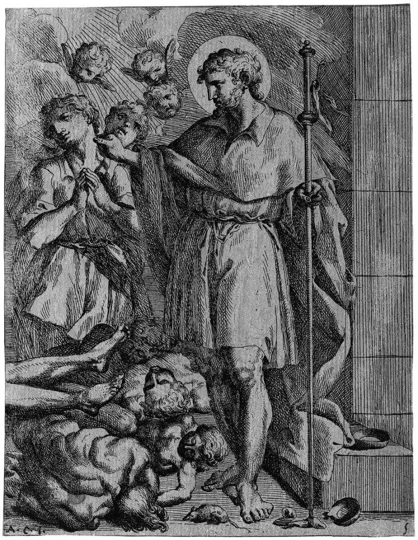 5013: Bellavia, Marcantonio: Der hl. Rochus