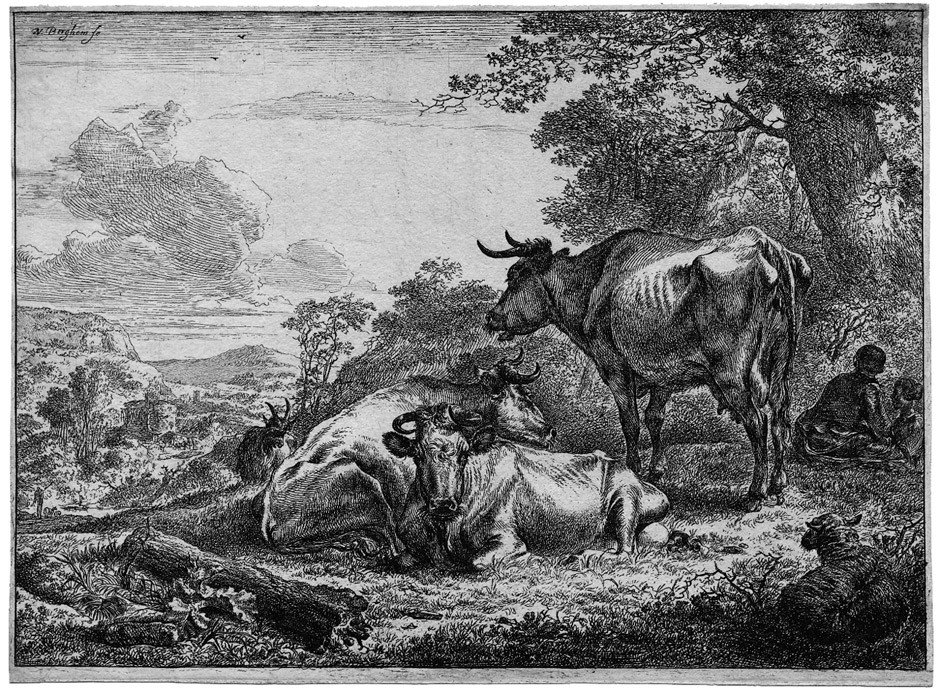 5014: Berchem, Nicolas: Die ruhenden Kühe