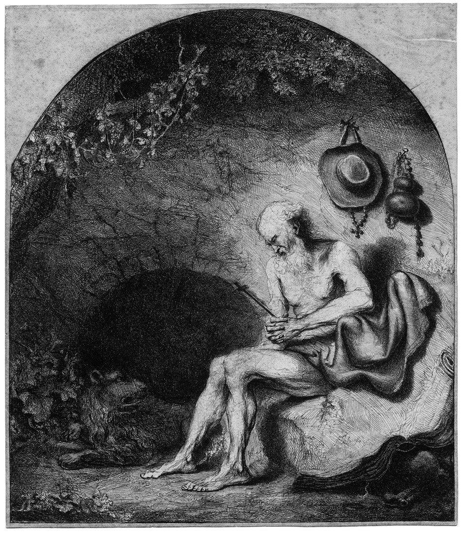 5018: Bol, Ferdinand: Der hl. Hieronymus in der Höhle