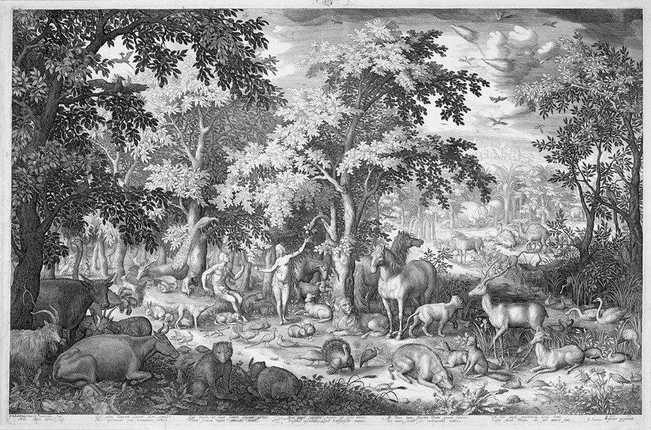 5021: Bolswert, Boetius Adams: Adam und Eva im Paradies