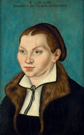 Cranach, Lucas D. J. - Werkstatt: Bildnis Der Kat