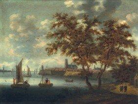 6008: Niederländisch, 17. Jh: Ansicht von Dordrecht mit