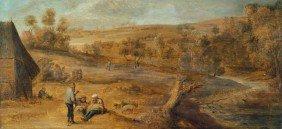 Teniers, David D. J. - Umkreis: Flu�landschaft Mi