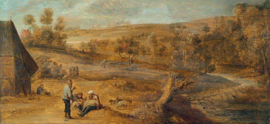 6009: Teniers, David d. J. - Umkreis: Flußlandschaft mi