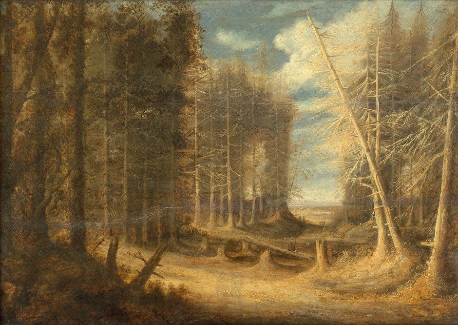 6012: Peeters, Gillis - Umkreis: Waldlandschaft mit umg