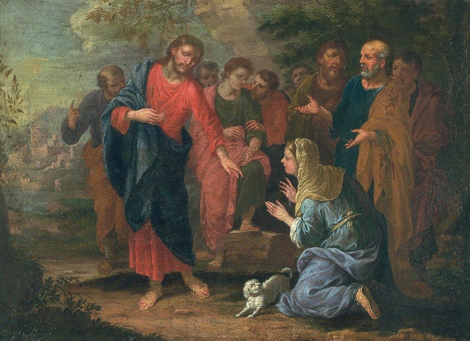 6016: Augsburg, um 1680: Christus und die Samariterin .