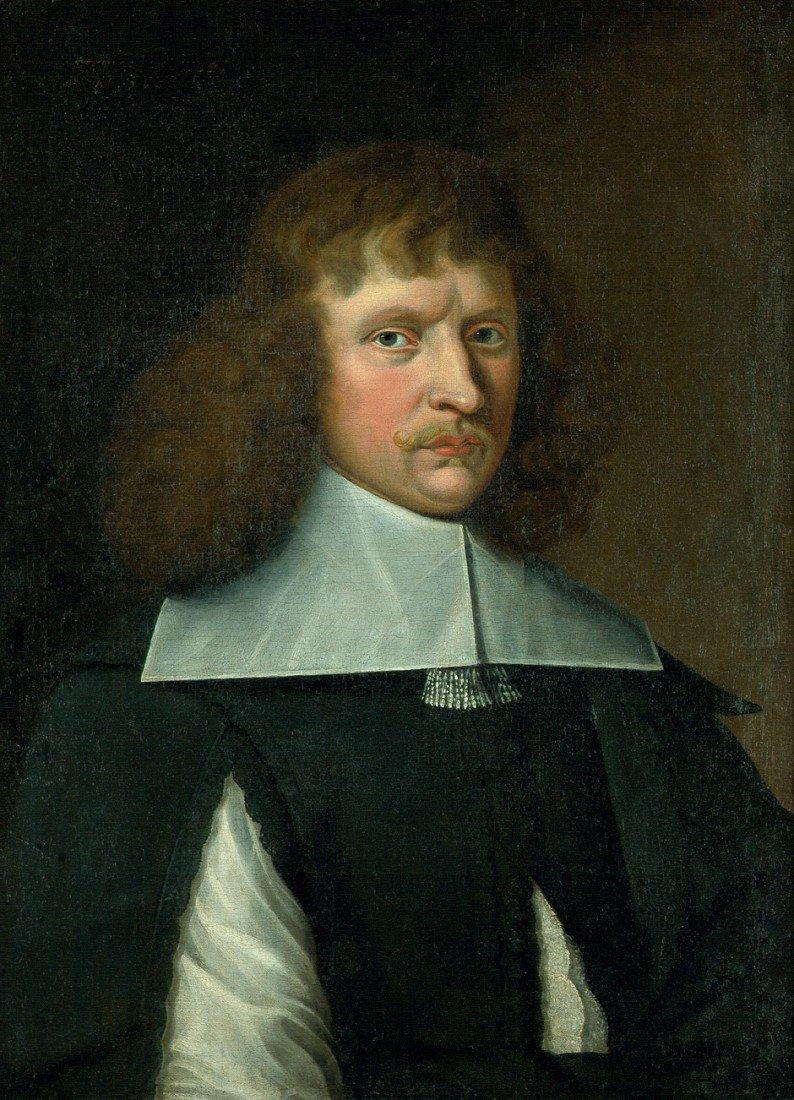 6022: Deutsch, um 1650: Bildnis eines Mannes im schwarz