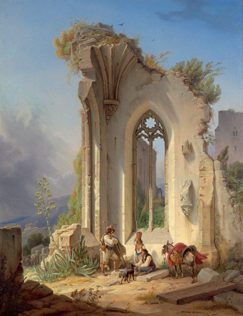 6106: Gail, Wilhelm: Klosterruine an der Campagna von V