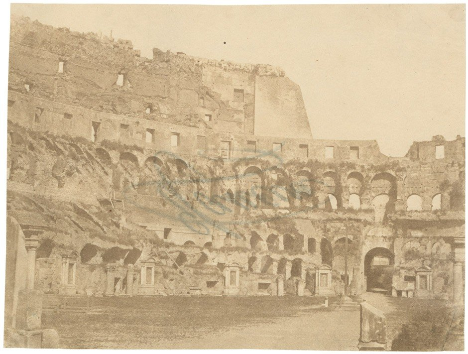 4019: Caneva, Giacomo: Interior of the Colosseum; Nile