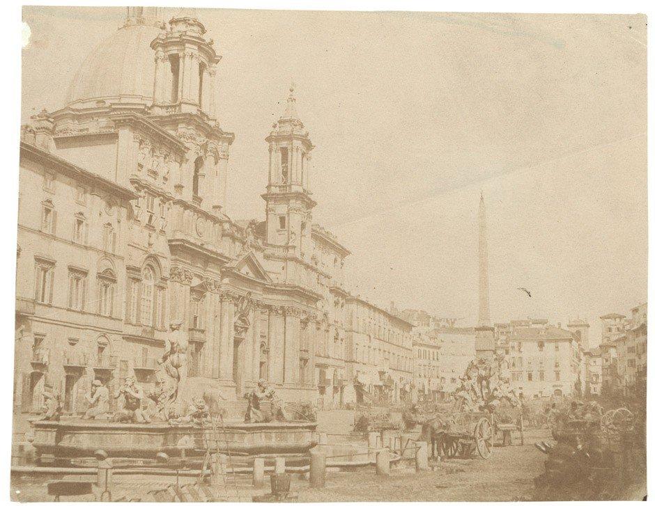 4021: Caneva, Giacomo: Market scene, Piazza Navona