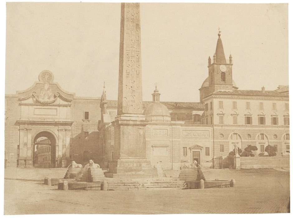 4022: Caneva, Giacomo: Piazza and Porta del Popolo