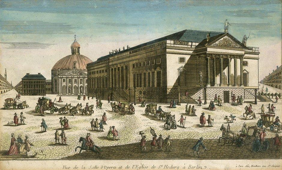 73: Berlin (Guckkastenblätter): Vue de la Salle d'Opera