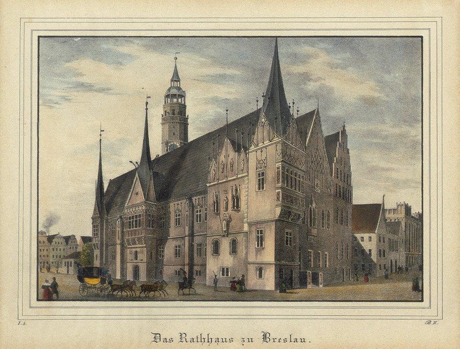 82: Breslau/Glogau/Wohnwitz: Rathaus, Kirchen etc.