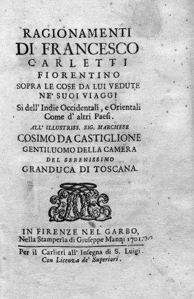 Carletti, Francesco: Ragionamenti... Sopra Le Cose