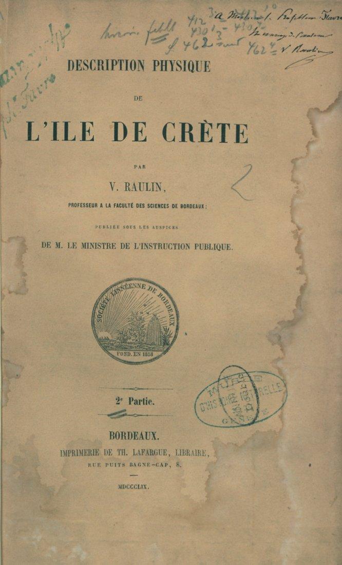 433: Raulin, Victor: Description physique de l'ile de C