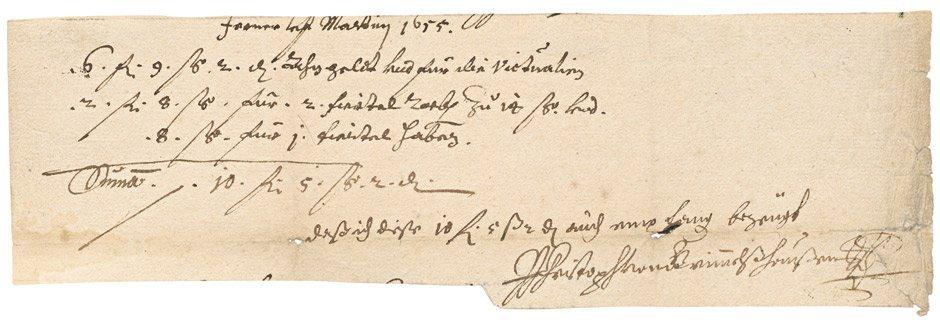 1821: Grimmelshausen, Hans Jakob Christoph von: Signier