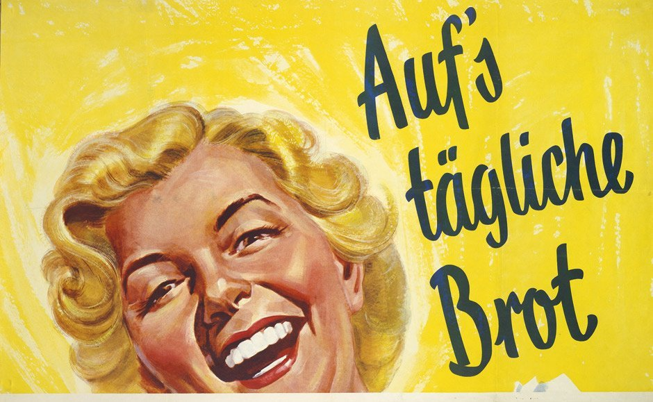 3789: Sanella Margarine: Plakat. Auf's tägl. Brot. Um 1