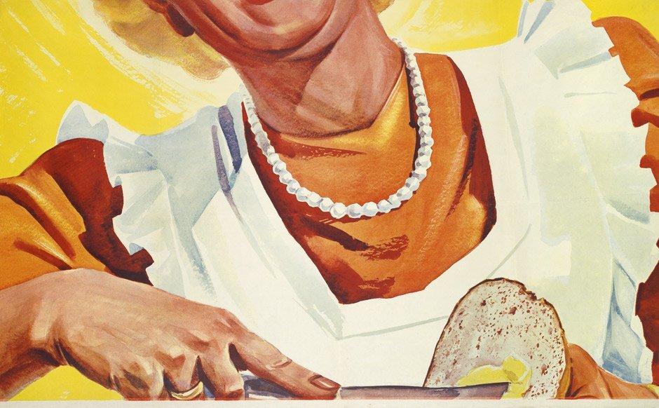 3789: Sanella Margarine: Plakat. Auf's tägl. Brot. Um 1 - 2