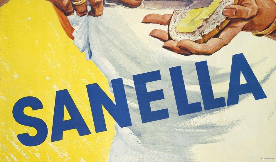3789: Sanella Margarine: Plakat. Auf's tägl. Brot. Um 1 - 3