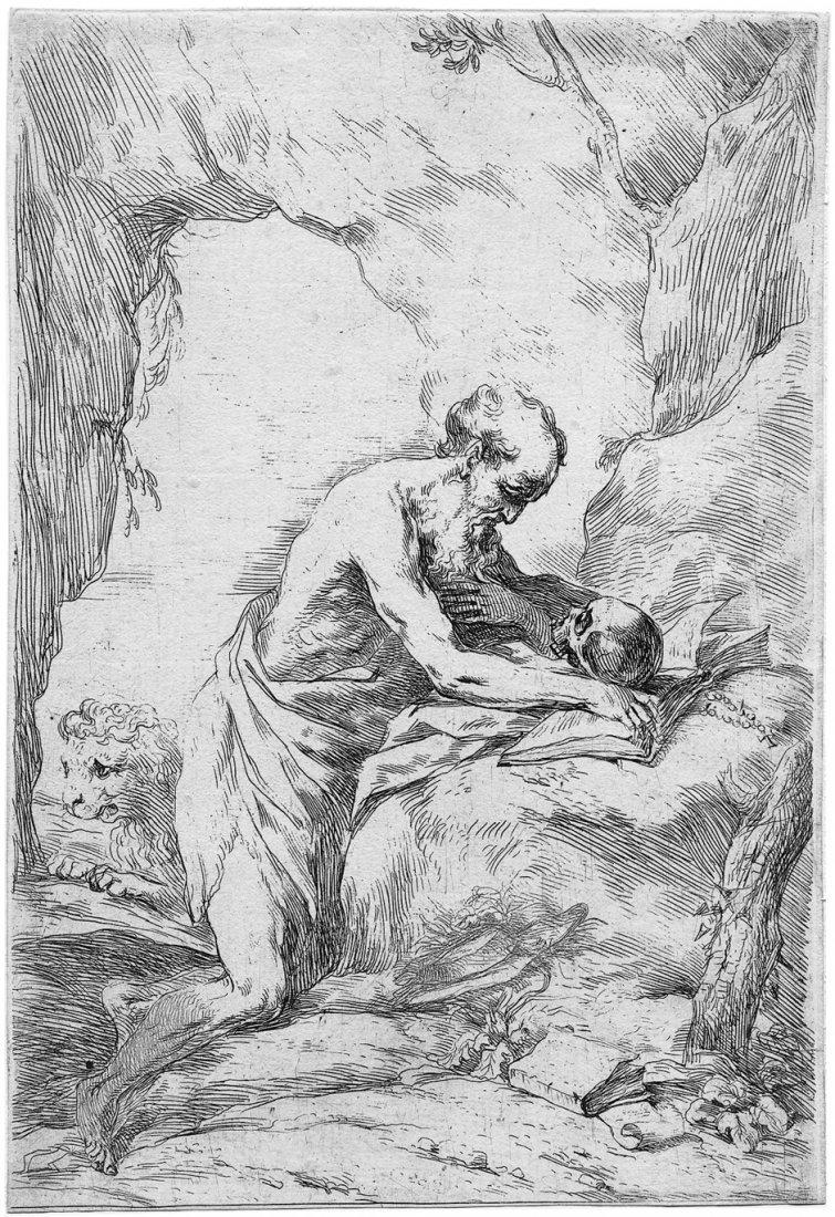 5023: Biscaino, Bartolomeo: Der hl. Hieronymus in der E