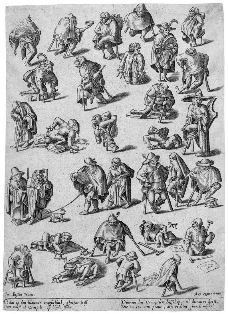 5033: Bosch, Hieronymus: Die Gangarten der Krüppel