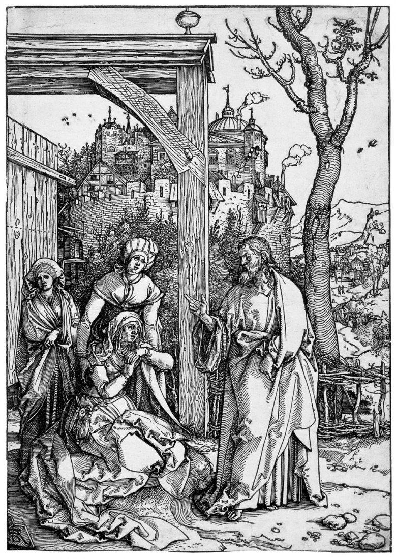 5073: Dürer, Albrecht: Christi Abschied von seiner Mutt