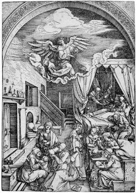 D�rer, Albrecht: Die Geburt Mariens