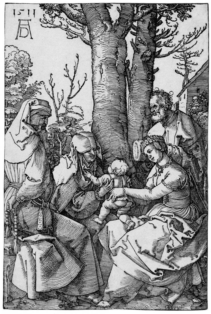 5075: Dürer, Albrecht: Die Hl. Familie mit Joachim und