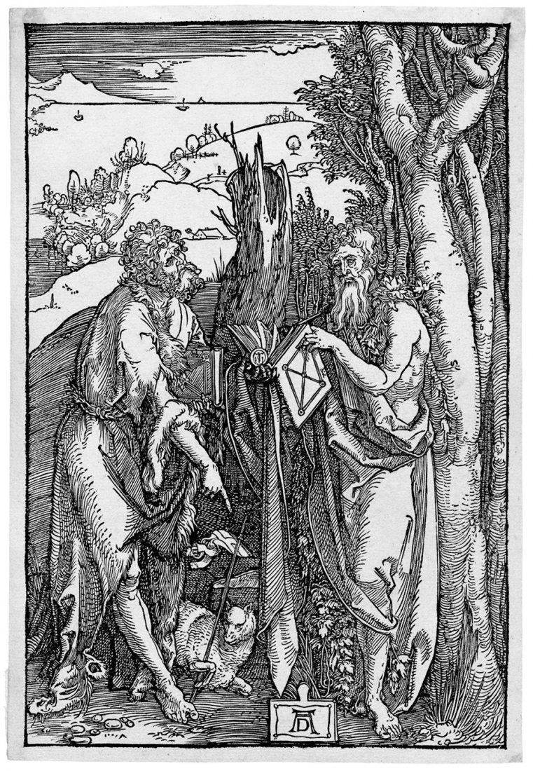 5077: Dürer, Albrecht: Der hl. Johannes d. T. und Onoph