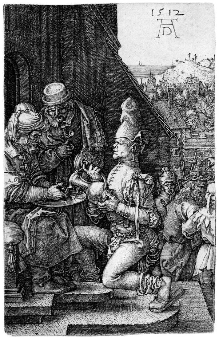 5078: Dürer, Albrecht: Pilatus wäscht sich die Hände