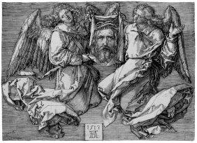 D�rer, Albrecht: Das Schweisstuch, Von Zwei Engel
