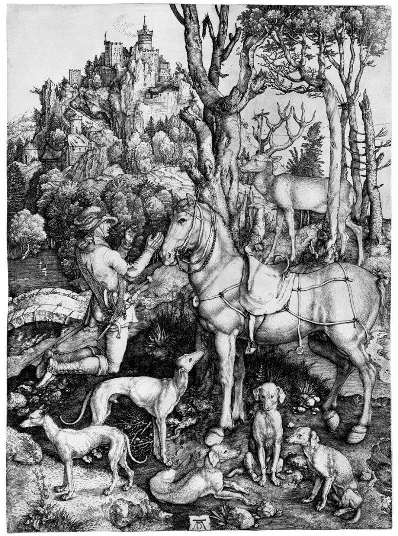 5082: Dürer, Albrecht: Der hl. Hubertus, auch Eustachiu