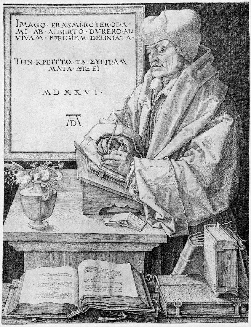 5083: Dürer, Albrecht: Erasmus von Rotterdam