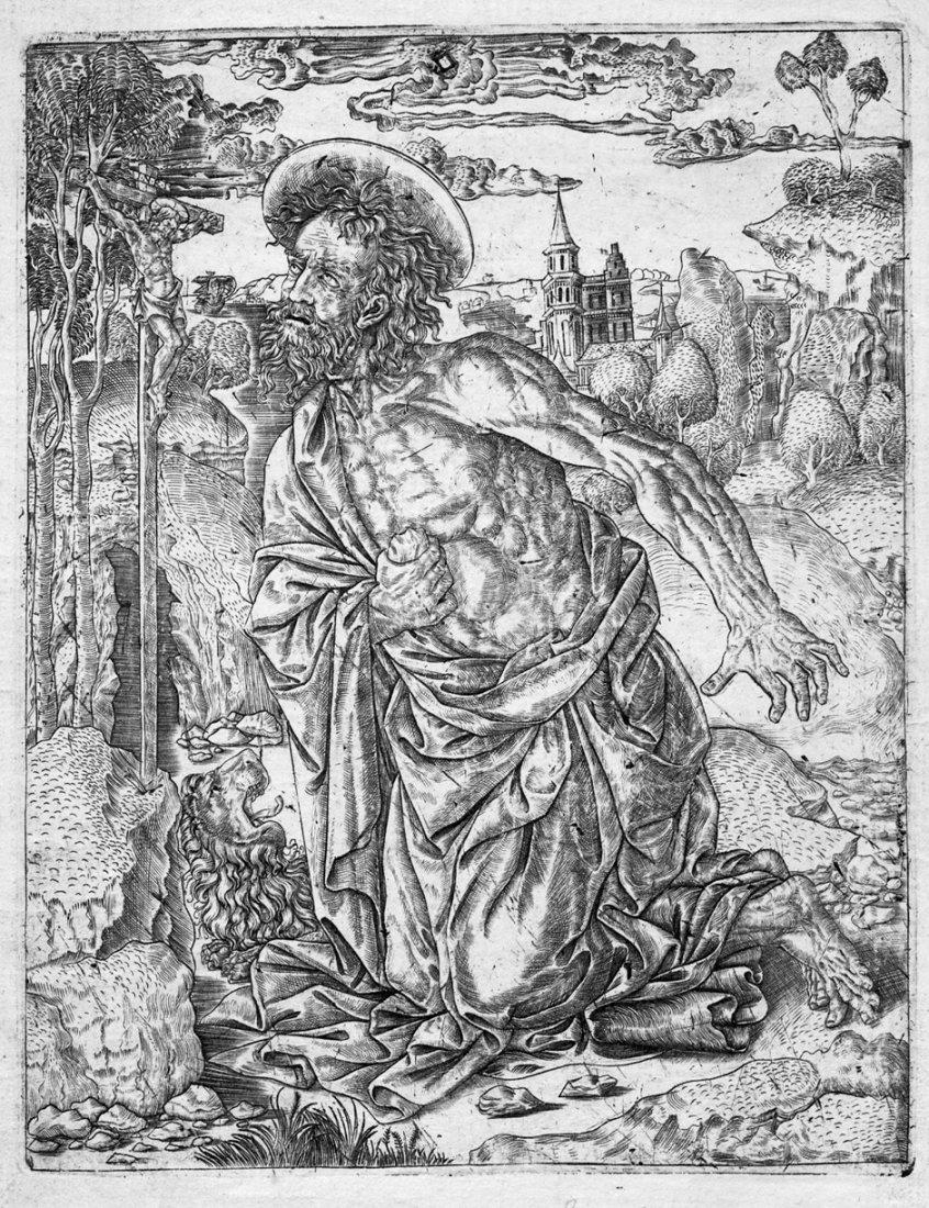 5092: Florentinisch, um 1500: Der hl. Hieronymus