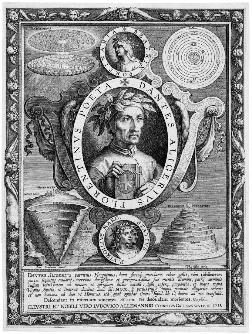 5095: Galle I, Cornelis : Porträt Dante Algheri